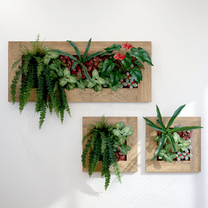 3D model fytowall vertical gardening