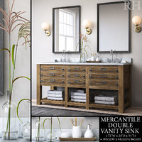 3D restoration mercantile double vanity