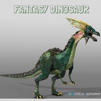 3D fantasy dinosaur