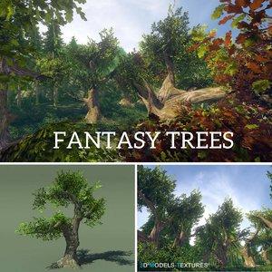 3D model fantasy trees