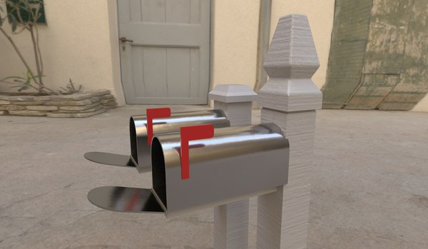 mail post 3D model