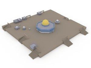 3D dome rock