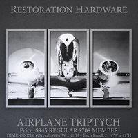 restoration airplane triptych 3D model