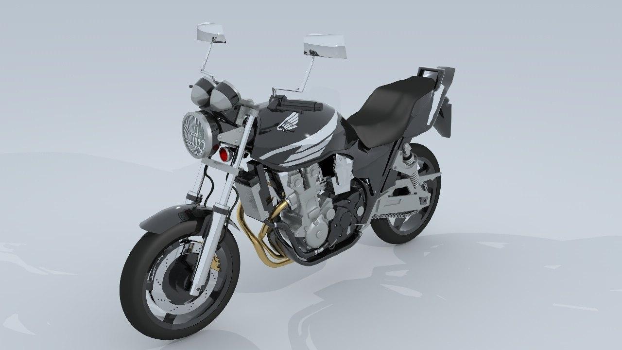 honda cb1300 3D