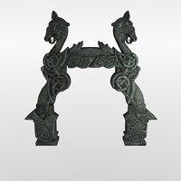 gate arch nordic stone