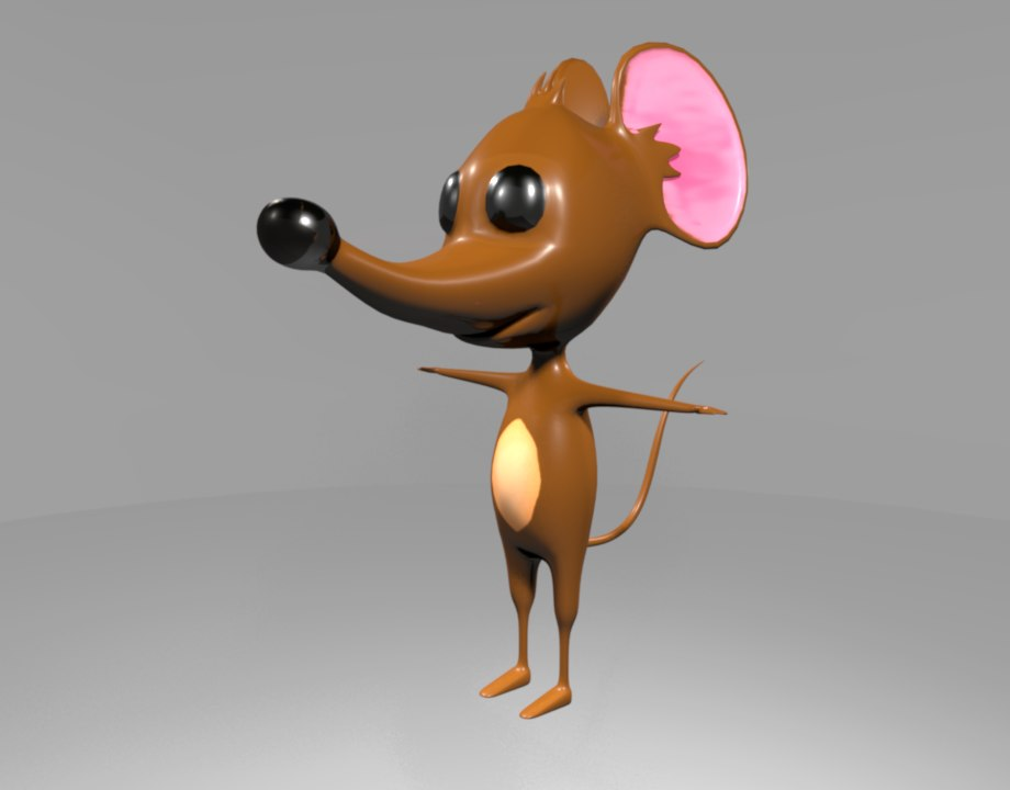 3D cartoon mouse model