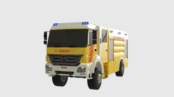 3D abu dhabi truck model