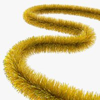 christmas tinsel 3D model