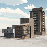 buildings town city block 3D model