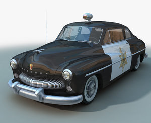 1949 mercury police car 3D