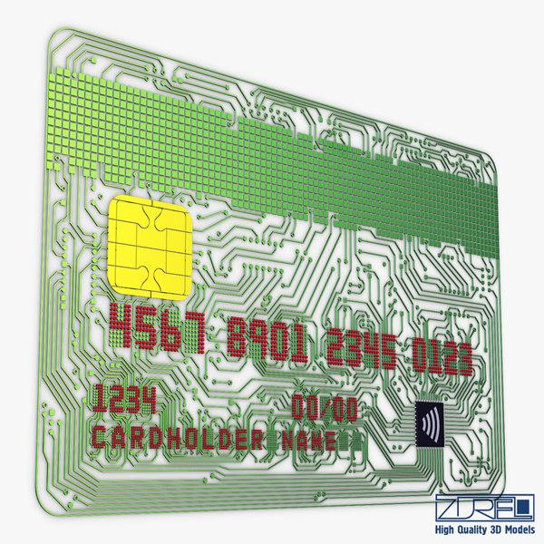 3D electronic circuit bank card