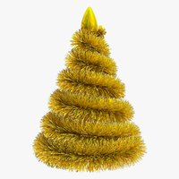 3D christmas tinsel fir