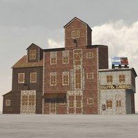 3D building wharf vue