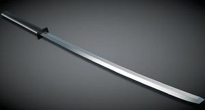3D katana sword