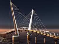 bridge landscape 3D
