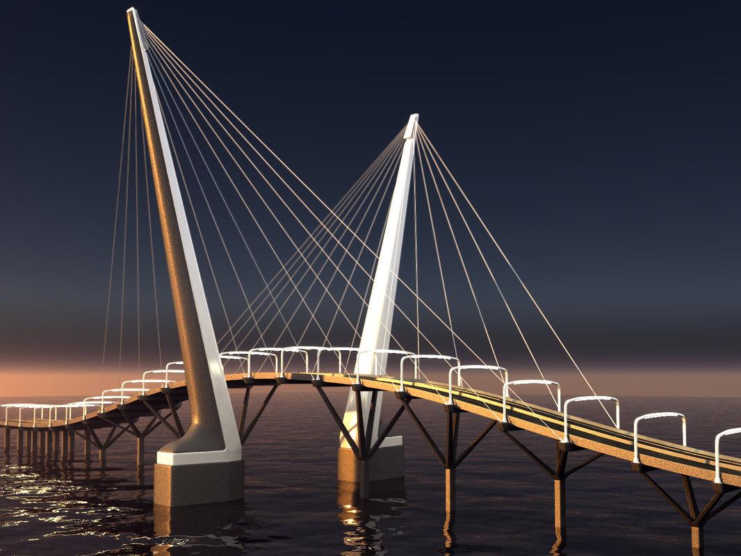 bridge landscape 3D