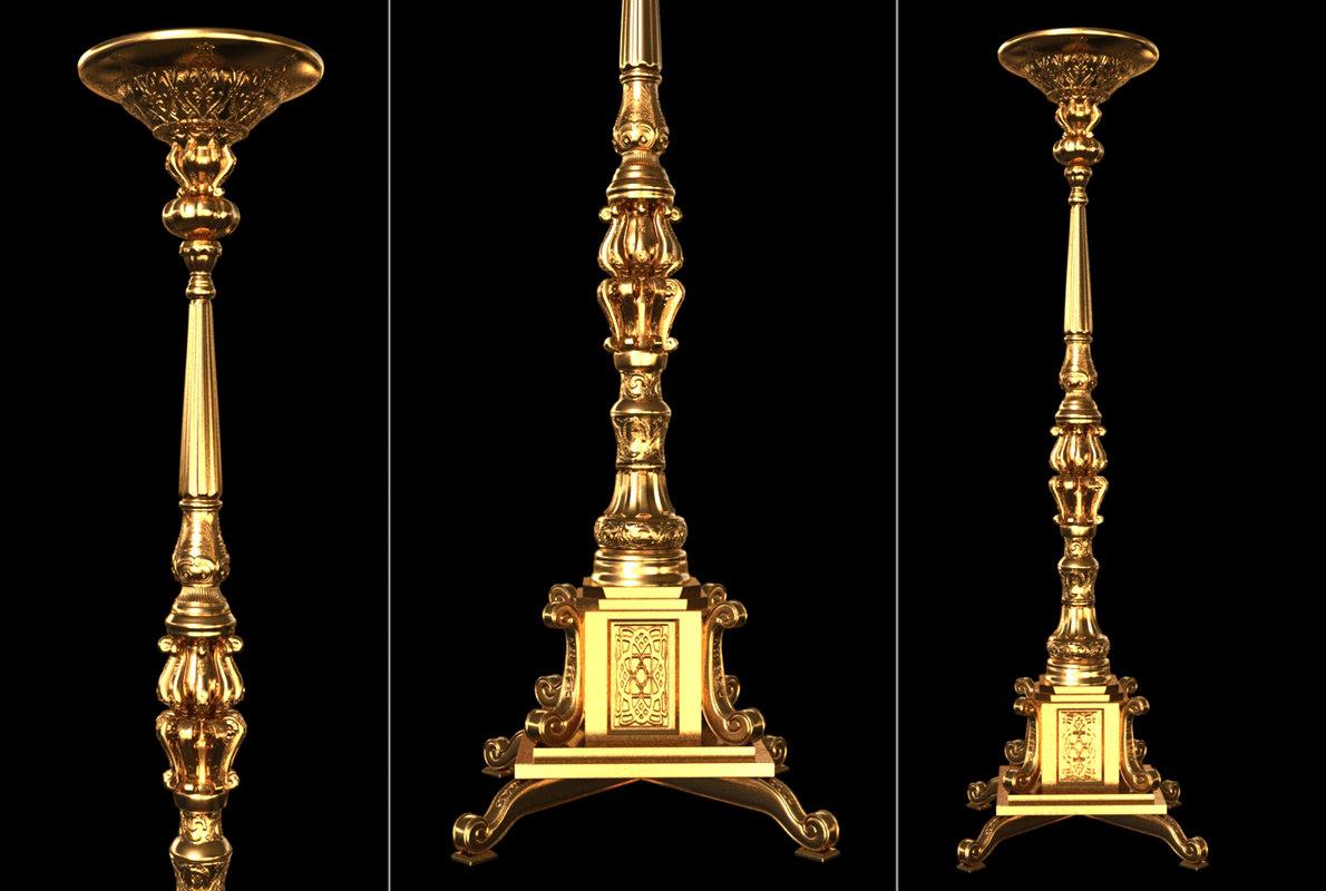 royal candle holder 3D model