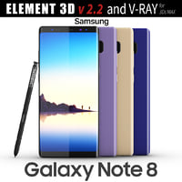 Samsung Galaxy Note 8 All colors - Element 3D