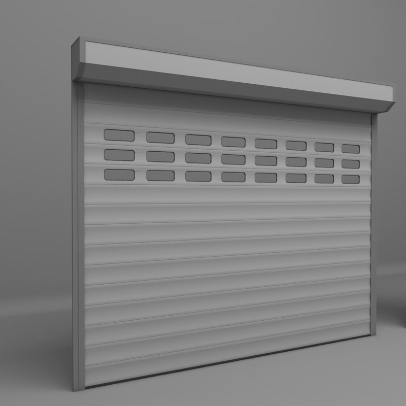 garage door electric 3D model