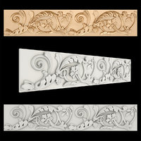 3D model frieze gold