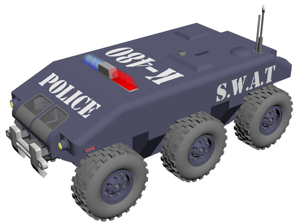 swat modern vehicle 3D model