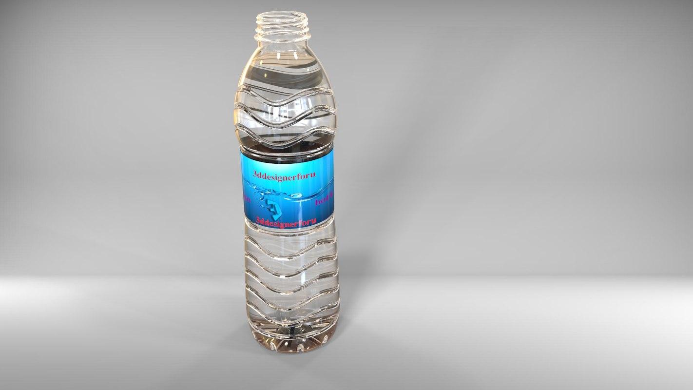 500ml water bottle pet