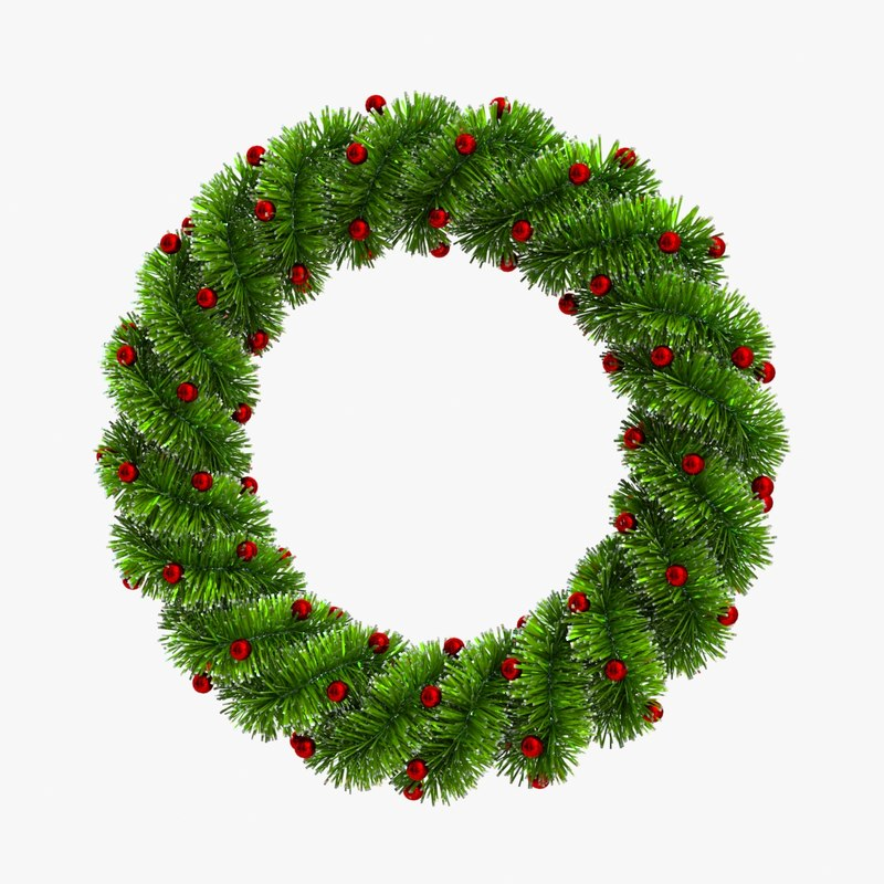 christmas wreath 3D model