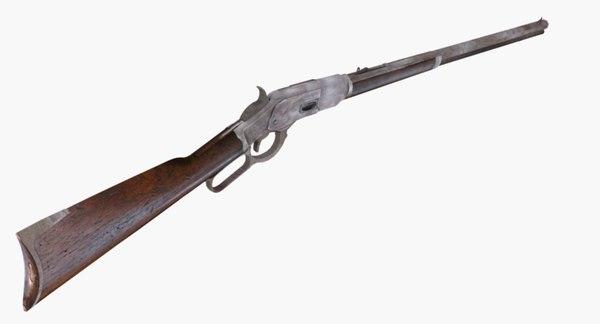 firearms winchester rifle 1876 3D model