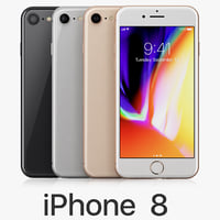 3D apple iphone 8 colors