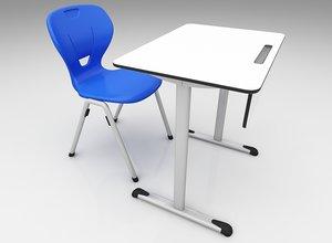 students desk 3D