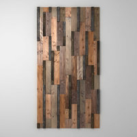 Mosaic wood panel planks