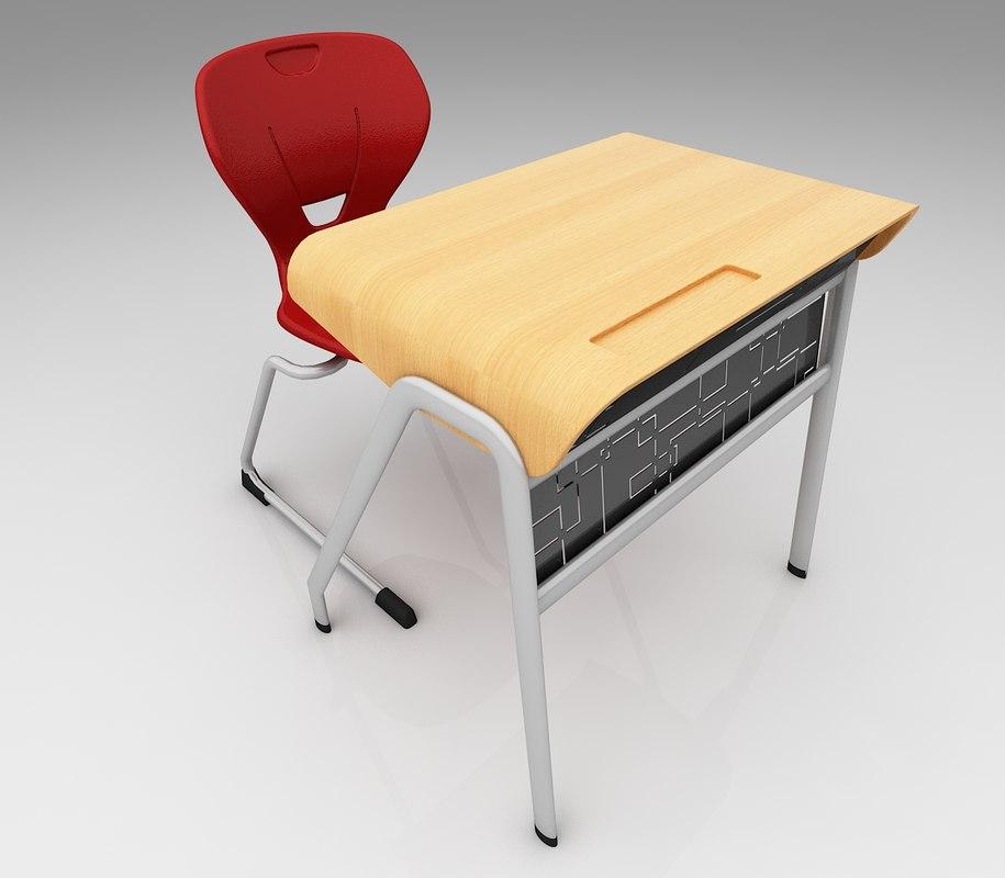 3D students desk
