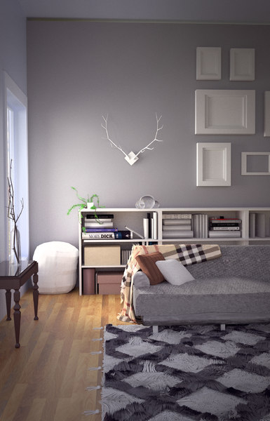 modern fall interior design 3D model