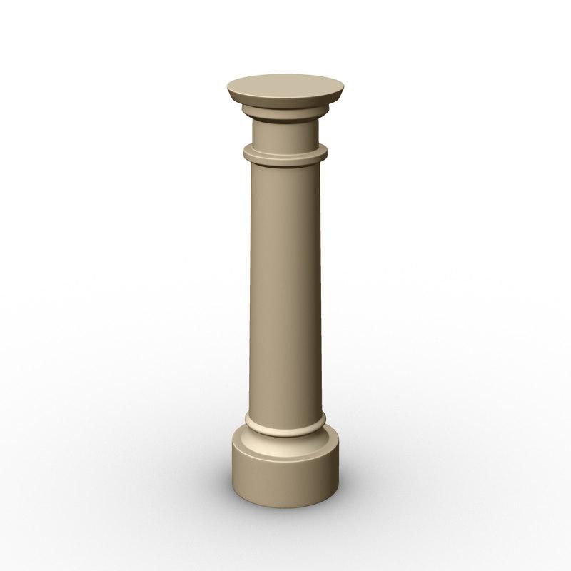 ornamental pillar 3D model