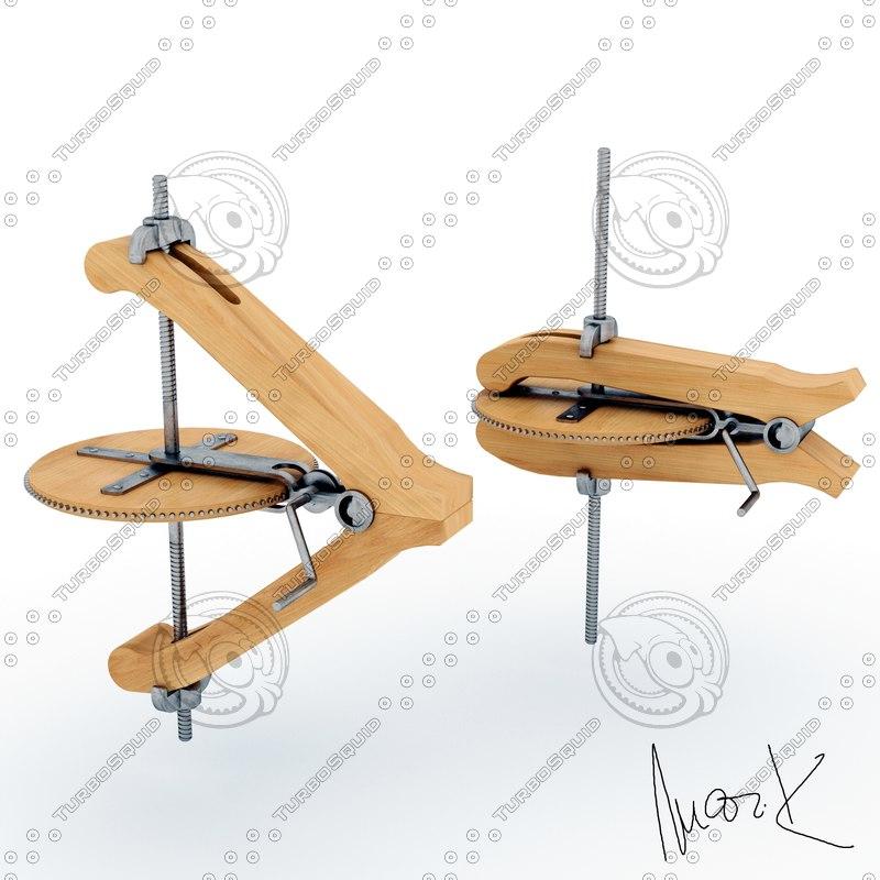 mechanical wedge 3D model