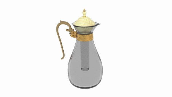 3D model coffee ice tea glass