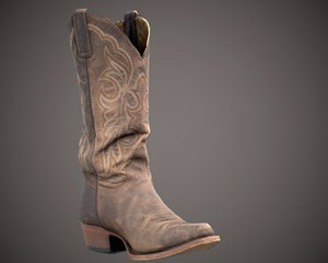 photorealistic boot 3D