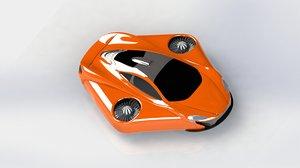 3D model mclaren turbo concept car