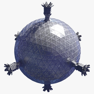 3D space station model