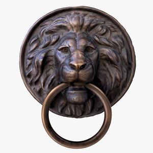 lion head ring model