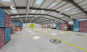 3D model structure hangar