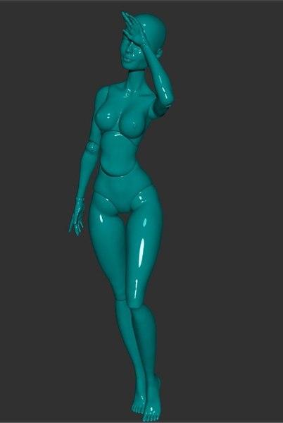 bjd doll girl 3D model