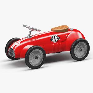3D push ride classic car