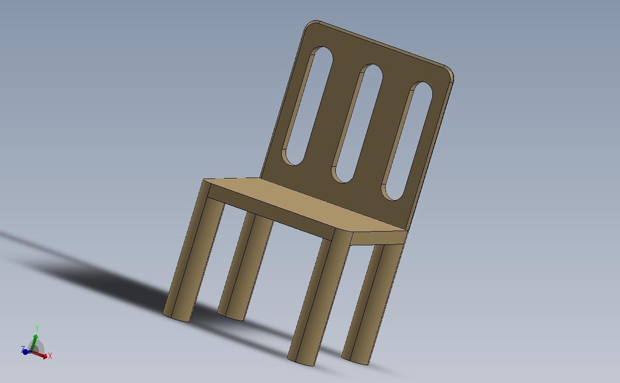 3D grey chair
