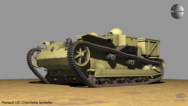 3D ue chenillette tankette model