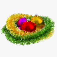 Christmas Balls and Tinsel 02