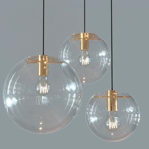 pendant lamp selene classicon 3D