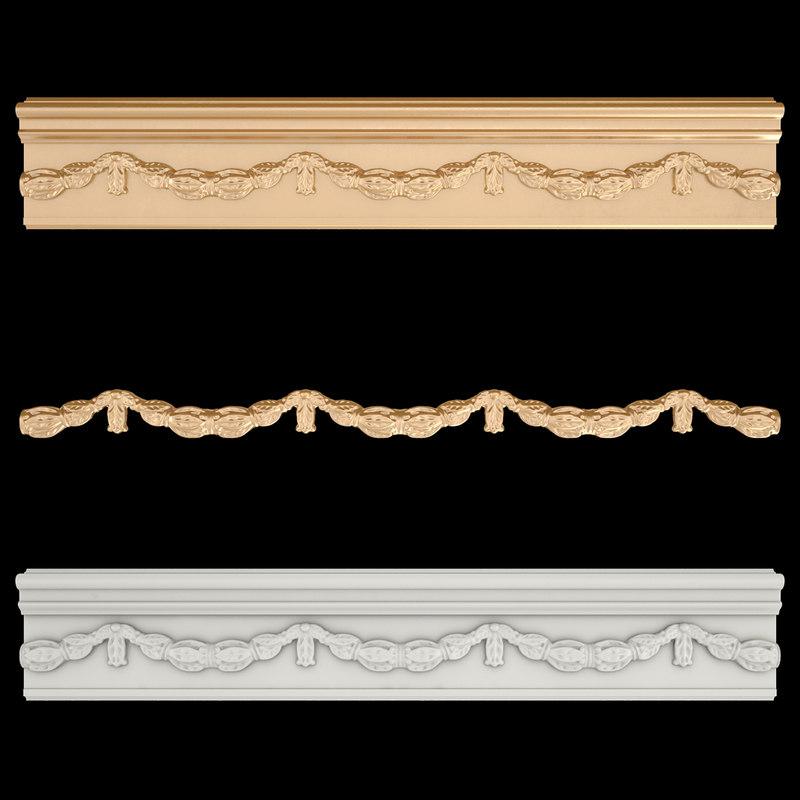 3D frieze gold model