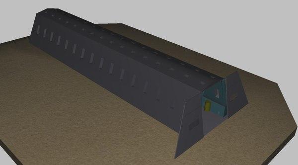 3D world war zeppelin hanger