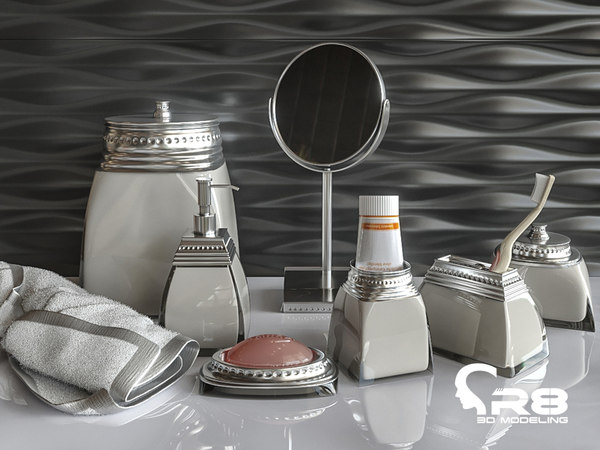 3D items bathroom model